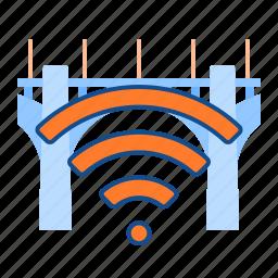 bridge, connection, network, wifi icon