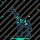 animal, fauna, giraffe, herbivores, mammal, neck, tall
