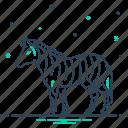 animal, black and white, fauna, head, herbivore, wildlife, zebra icon