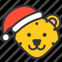 animal, christmas hat, leopard, wild, xmas icon
