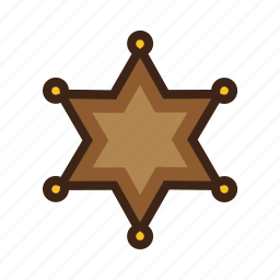 badge, golden, police, sheriff, star, west, wild icon