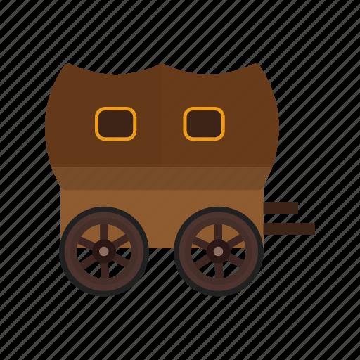 carriage, cart, cowboy, horse, west, wheel, wild icon