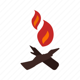 camp, fire, flame, lights, natural, warm, wood icon