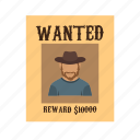 sketch, criminal, poster, west, wild, wanted, drawing