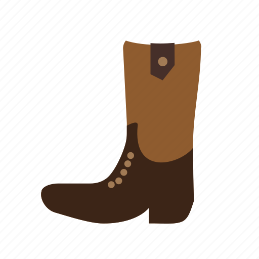 boot, cowboy, foot, leather, style, west, wild icon