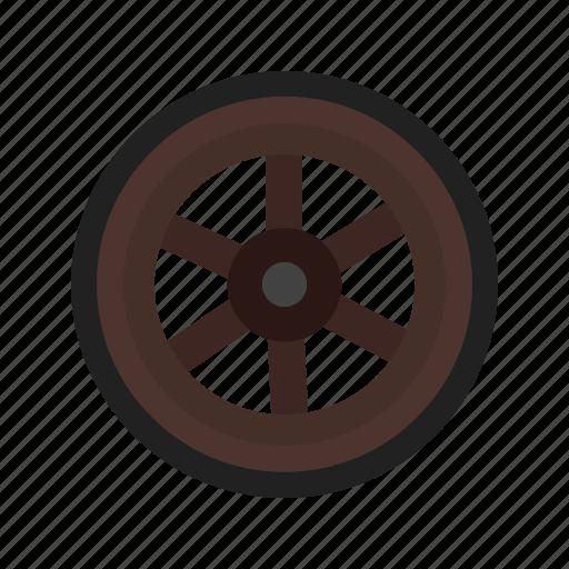 cart, travel, west, western, wheel, wild, wooden icon