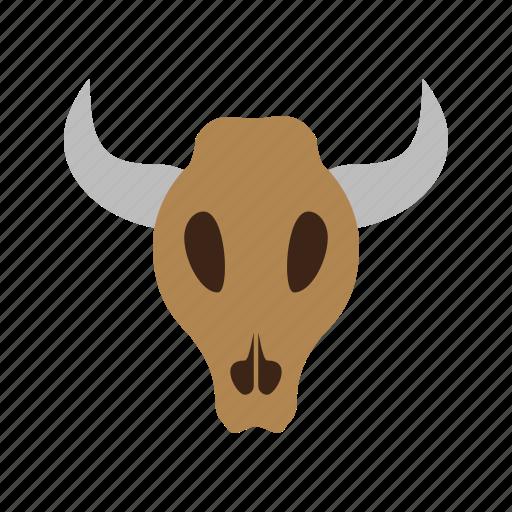 animal, bull, cow, head, horns, wildlife icon