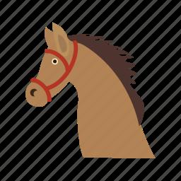cowboy, hat, horse, rural, west, wild icon