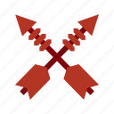 arrow, arrows, cowboy, old, weapon, west, wild icon