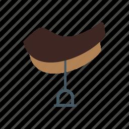 fence, horse, ranch, saddle, west, western, wild icon