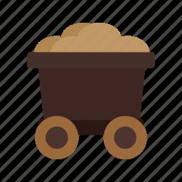 antique, cart, old, trolley, west, wheel, wild icon