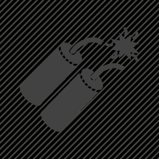 bomb, cowboy, dynamite, grenade, metal, single, war icon