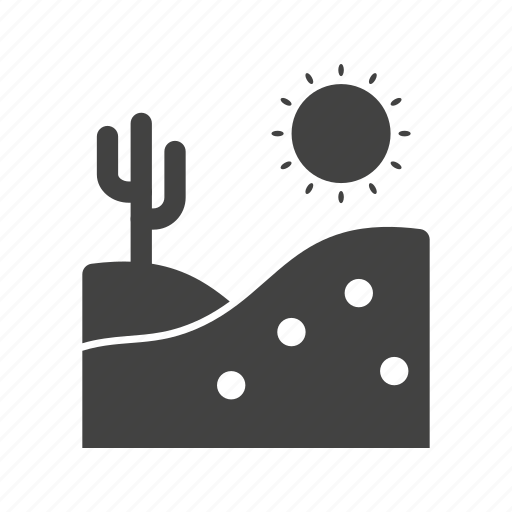 cactus, desert, dry, landscape, west, western, wild icon