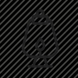 hanging, lamp, lantern, oil, old, wild, wood icon