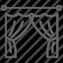 curtain, portiere icon