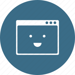 browser, design, happy, layout, responsive, smiley, webpage icon