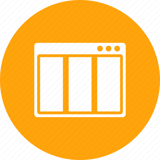 browser, column, layout, page, webpage, window, wireframe icon