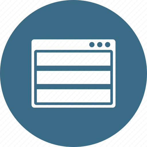 browser, layout, page, row, webpage, window, wireframe icon
