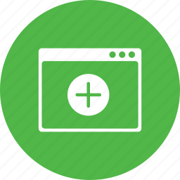 add, app, insert, layout, sign, webpage, window icon