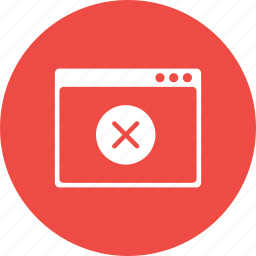 app, application, delete, multiplication, sign, webpage, window icon