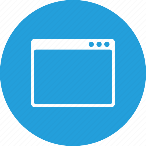 blank, design, layout, page, webpage, window, wireframe icon
