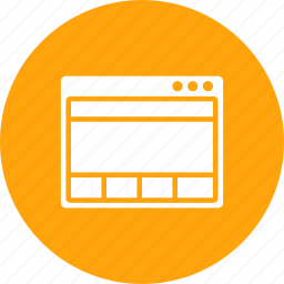 content, grid, layout, page, webpage, window, wireframe icon
