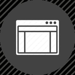 advertisement, blog, design, header, layout, webpage, window icon