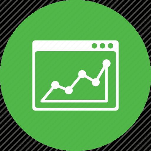 analysis, analytics, chart, graph, statics, webpage, window icon