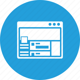 design, layout, page, twitter, web, window, wireframe icon