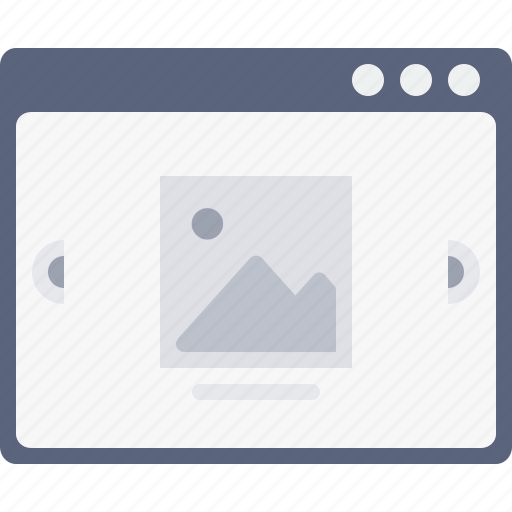 browser, layout, photos, pic, scroll, webpage, window icon