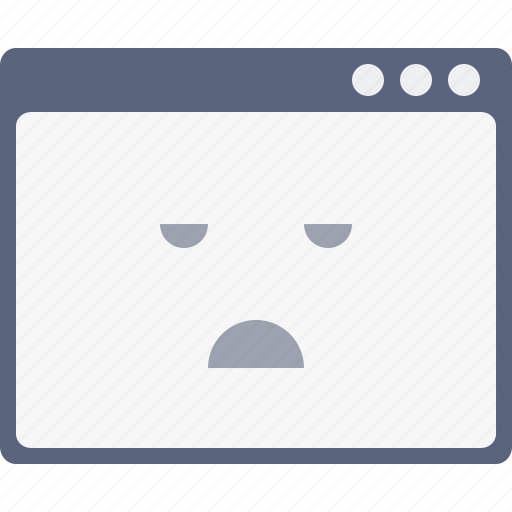 application, bored, emoji, layout, smiley, webpage, window layout icon