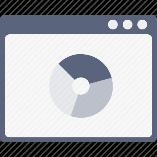 analysis, measure, performance, statics, webpage, window icon