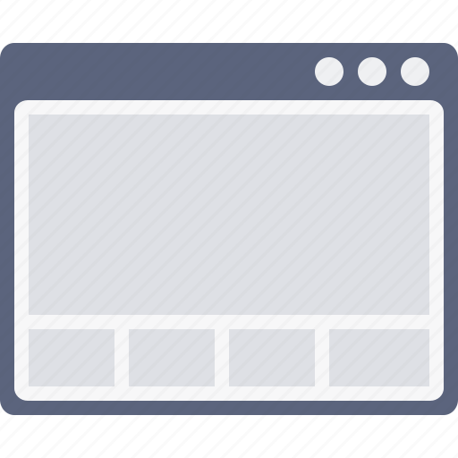 design, grid, layout, page, webpage, window, wireframe icon