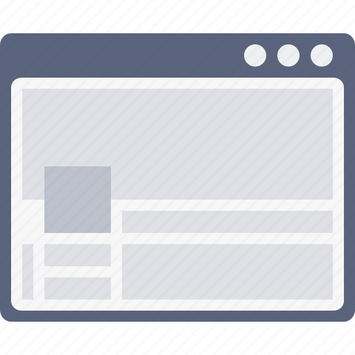 coverpage, design, facebook, layout, web, window, wireframe icon