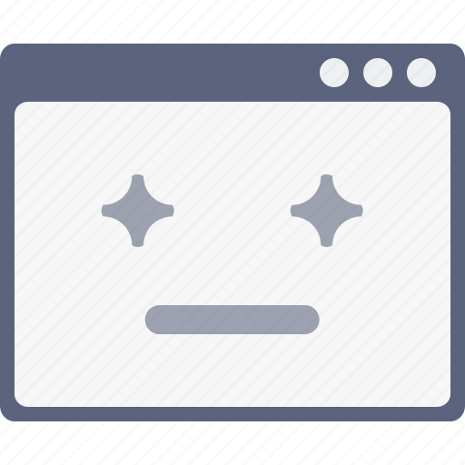 design, favorite, layout, smiley, star, webpage, window icon