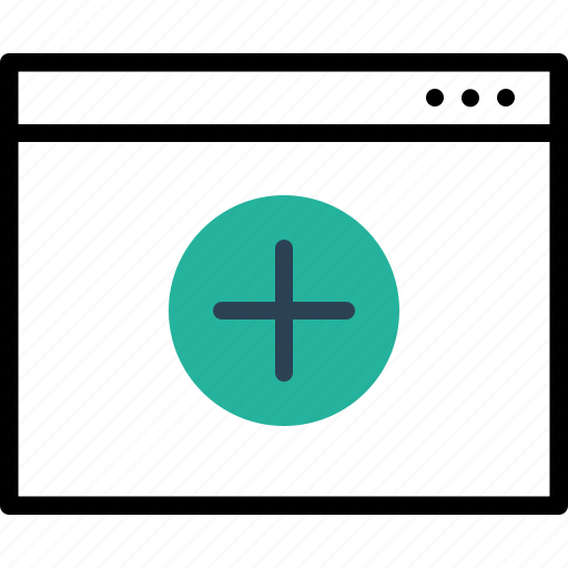 add, app, application, insert, sign, webpage, window icon