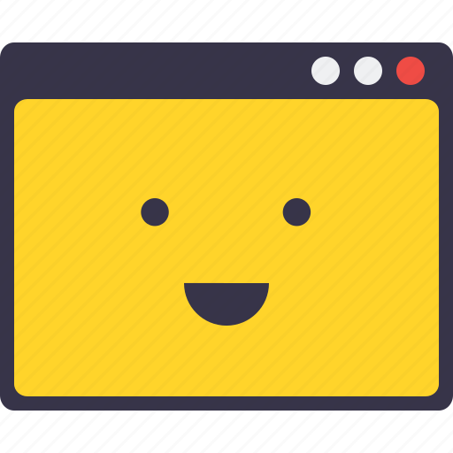 Browser, design, happy, layout, responsive, smiley, webpage icon - Download on Iconfinder