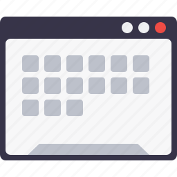 application, browser, grid, layout, webpage, window, wireframe icon