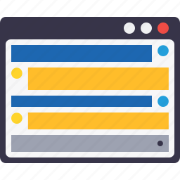 application, content, design, grid, layout, webpage, window icon