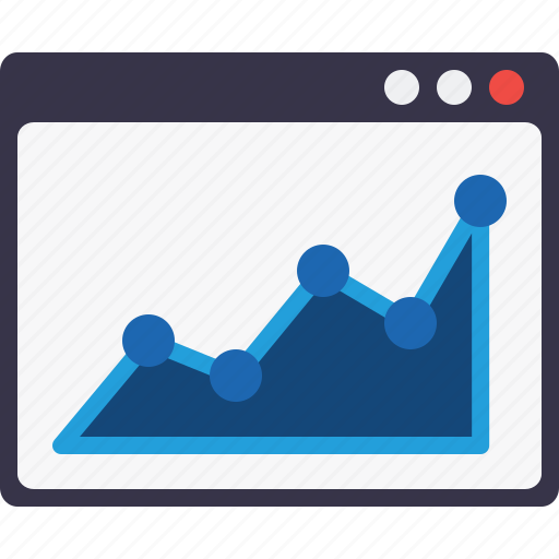 Analysis, analytics, chart, graph, statics, webpage, window icon - Download on Iconfinder