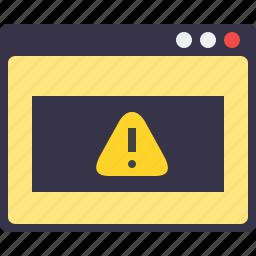 caution, error, nopagefound, page, sign, web, window icon