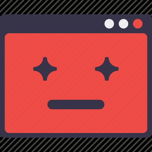 Design, favorite, sign, smiley, star, webpage, window icon - Download on Iconfinder