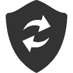 refresh, shield icon