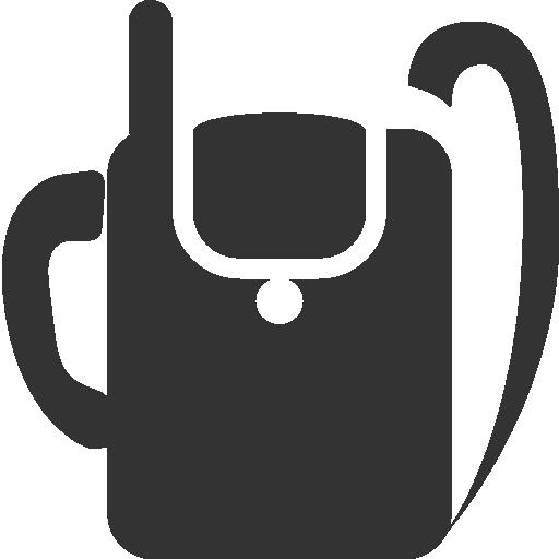 backpack, military, radio icon