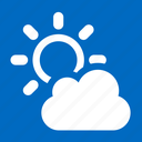 partly, clouded, weather, clouds, forecast icon