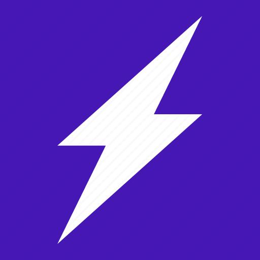 flash, forecast, lightning, weather icon