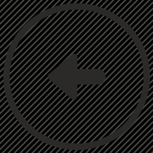 arrow, left, navigation, turn icon