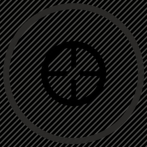 aim, cursor, pointer, targer icon