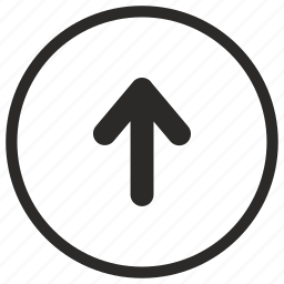 arrow, navigation, roll, up icon