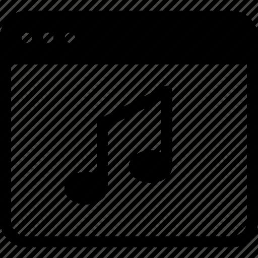 application, audio, music, note, sound, web icon